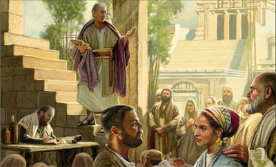 Nephi Teaching in the Temple by Dan Burr