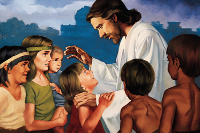 Christ Blessing the Nephite Children by Ted Henniger