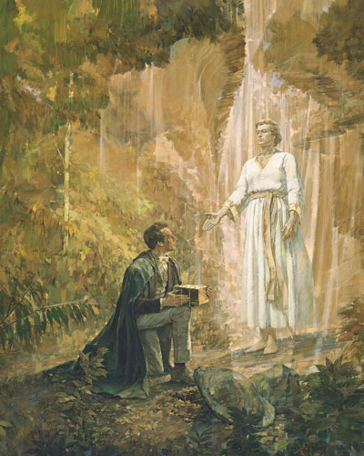 Joseph Smith Receives the Gold Plates by Kenneth Riley