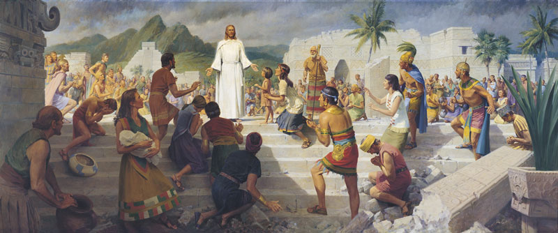 Jesus Christ Visits the Americas by John Scott