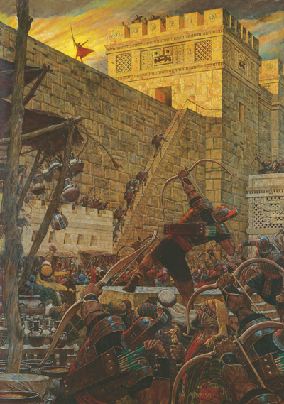 Samuel the Lamanite by Arnold Friberg