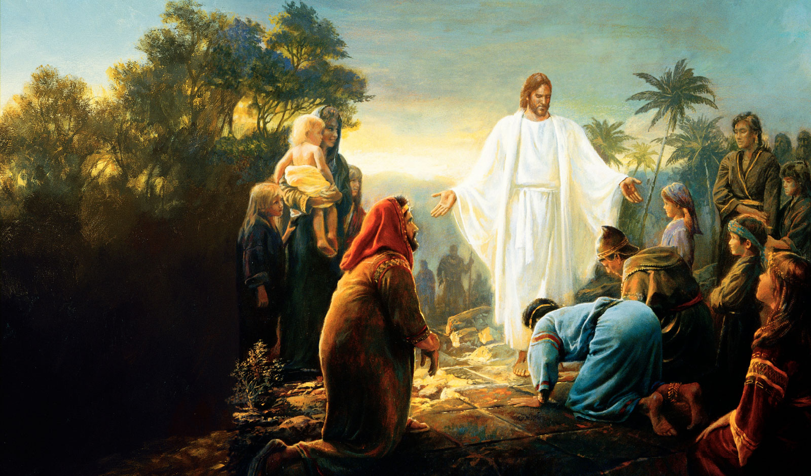 Christ revealing himself to the people of the New World. Image via sistereskanderl.com