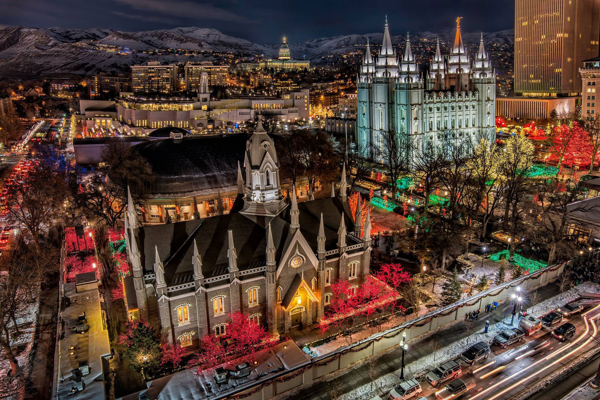 Photo of Temple Square by Michael R. Ash (2015)
