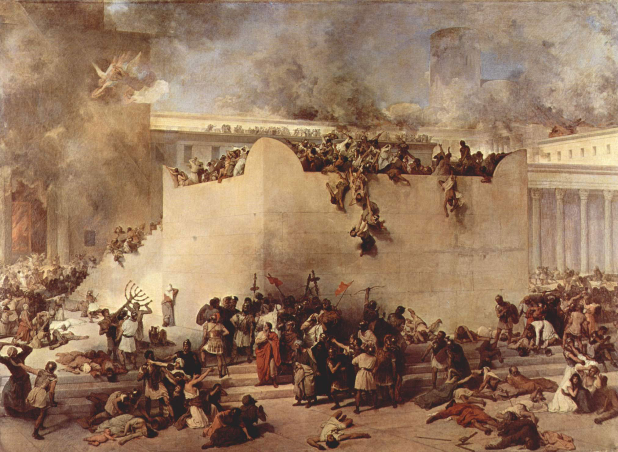 The Siege and Destruction of Jerusalem by David Roberts, 1850