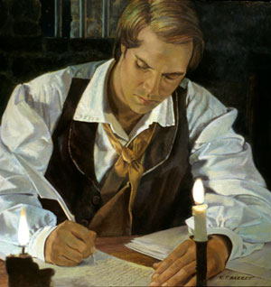 Painting of Joseph Smith by Robert T. Barrett