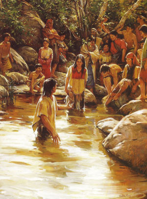 Painting of the Waters of Mormon by Walter Rane