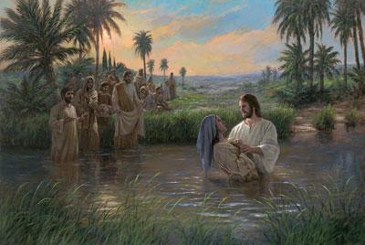 Jesus Himself Baptized by Jon McNaughton