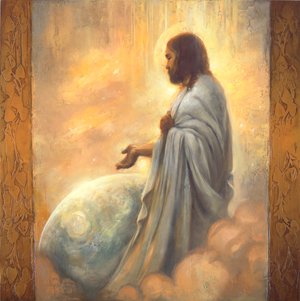 Painting of Christ by Annie Henrie