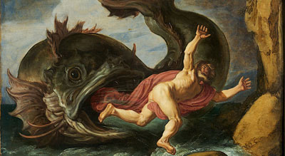 Jonah and the Whale by Pieter Lastman via Wikimedia commons