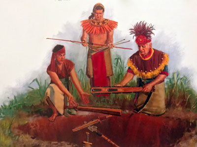 Anti-Nephi-Lehis burying their weapons of war. Artist unknown.