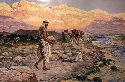 Lehi Building an Altar of Stones in the Valley of Lemuel by Kelly Clark Price