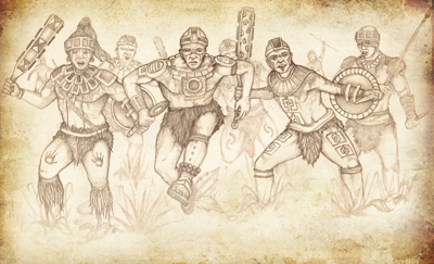 The war attire of the Zoramites and Lamanites was inferior to the armor of the Nephites. Image by Jody Livingston.