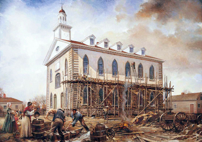 Kirtland Temple by Walter Rane
