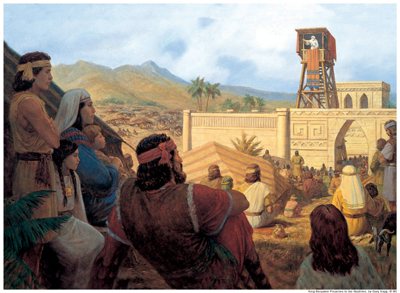 King Benjamin Preaches to the Nephites by Gary L. Kapp