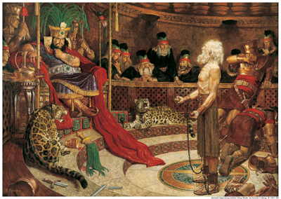 Abinadi Before King Noah by Arnold Friberg