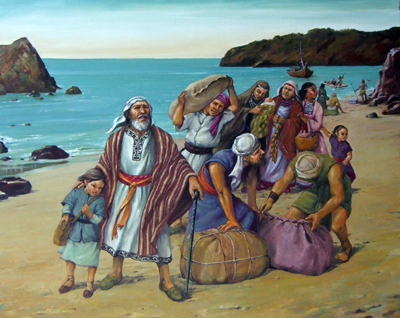 Lehi llegada a tierra prometida by Jorge Cocco