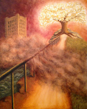 The Tree of Life by Krista Maureen Jones. Painting part of Book of Mormon Central's 2017 Art Contest