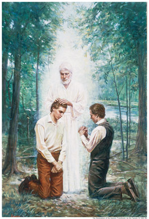 The Restoration of the Aaronic Priesthood by Del Parson
