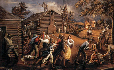 Haun's Mill Massacre by C.C.A. Christensen