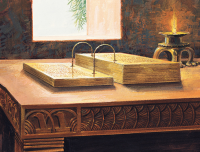 Painting of the gold plates by Jerry Thompson