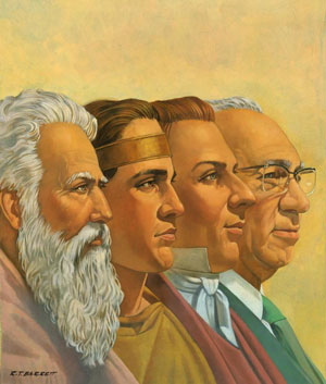 Painting of prophets by Robert T. Barrett