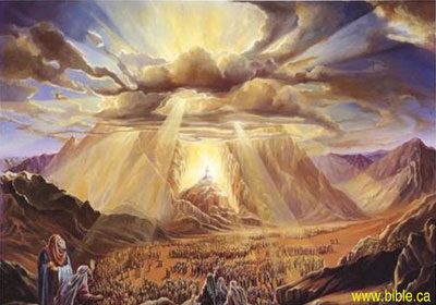 Mount Sinai and the camp of Israel. Image via bible.ca