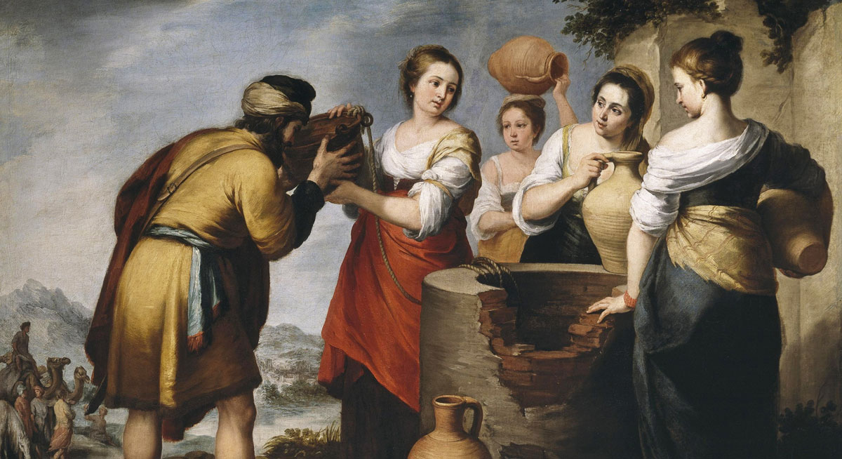 Rebecca and Eliezer by Bartolome Esteban Murillo via Wikimedia Commons