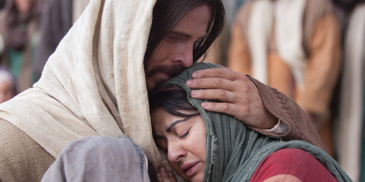 Jesus Mourning via LDS Media Library
