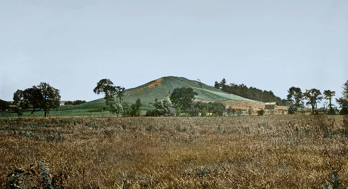 """The Hill Cumorah"" by George Anderson, colorized by Katie Payne"