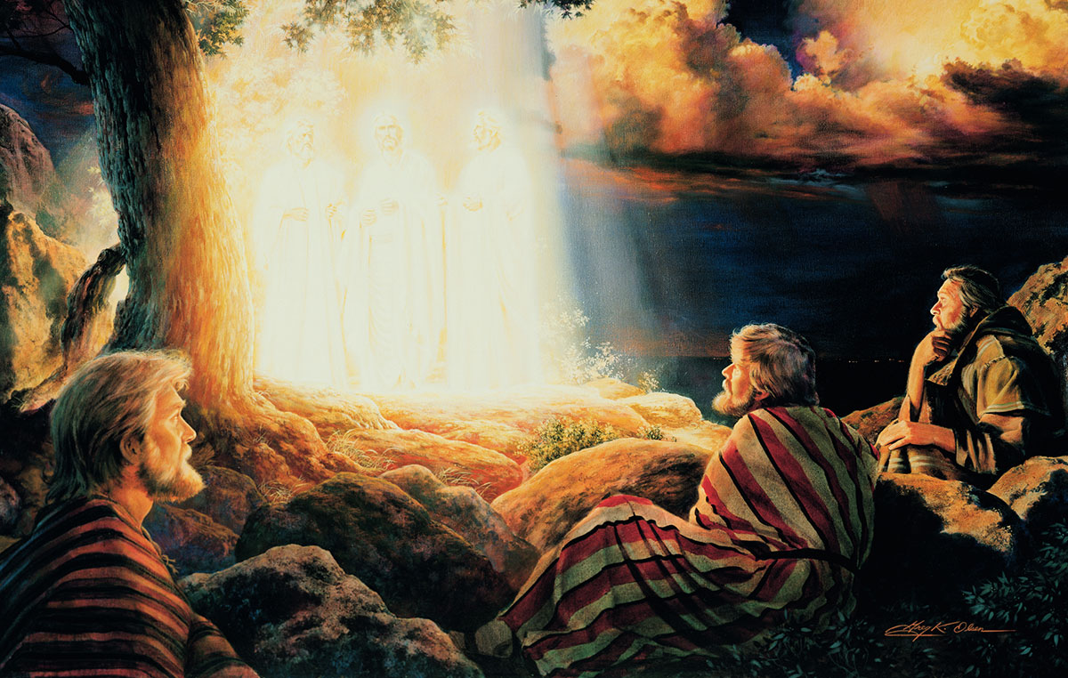 The Transfiguration of Christ by Greg K. Olsen. Image via churchofjesuschrist.org