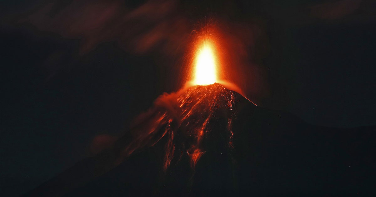Guatemala's Volcan de Fuego via the Associated Press