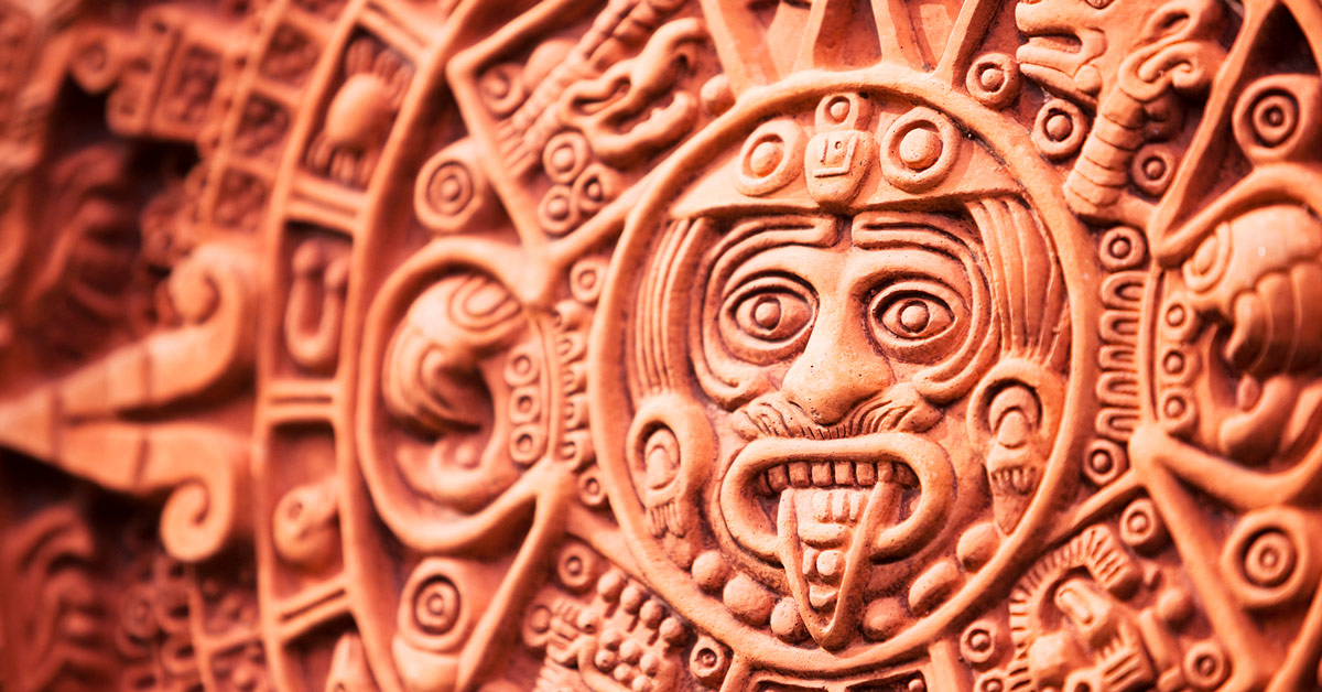 Aztec Calendar. Photo by Don Bayley.