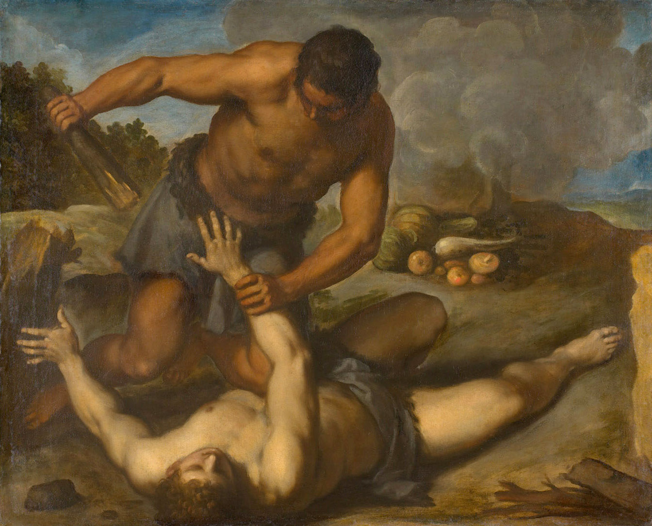 Cain and Abel by Palma il Giovane. Image via Wikimedia Commons.