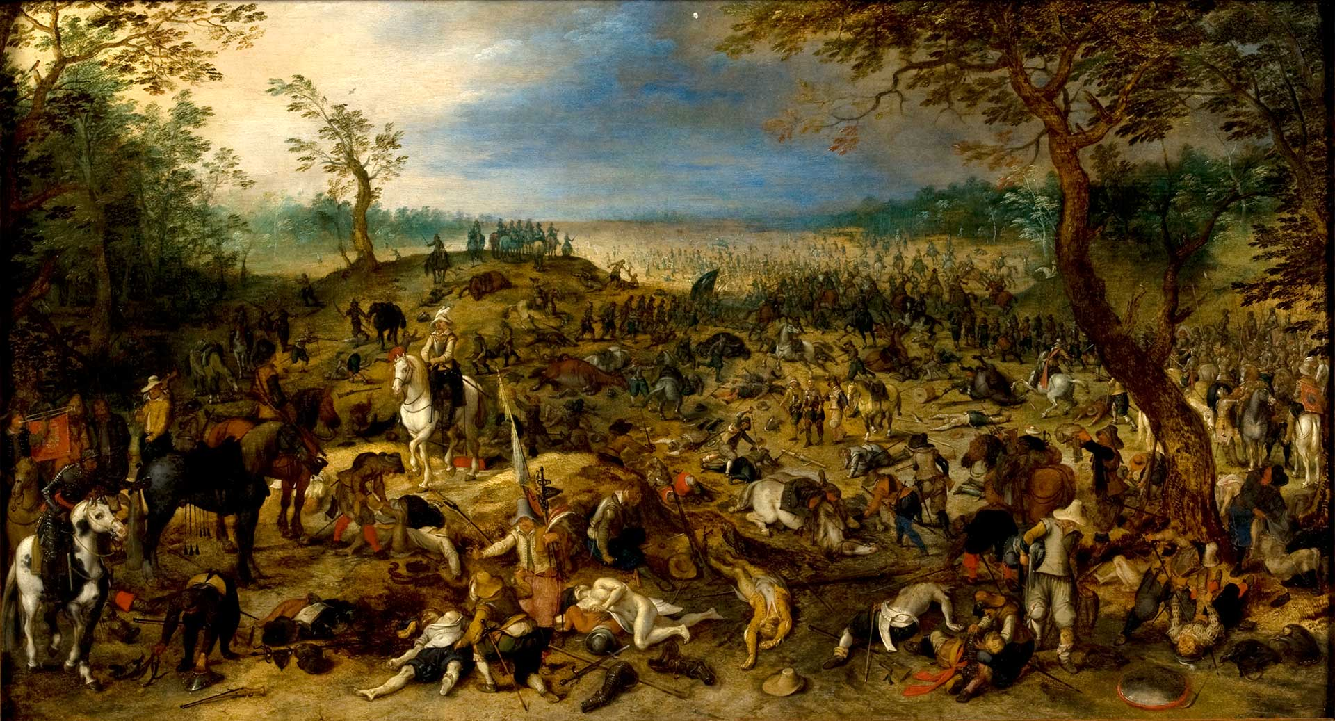 Battle Scene by Sebastiaen Vrancx. Image via Wikimedia Commons.