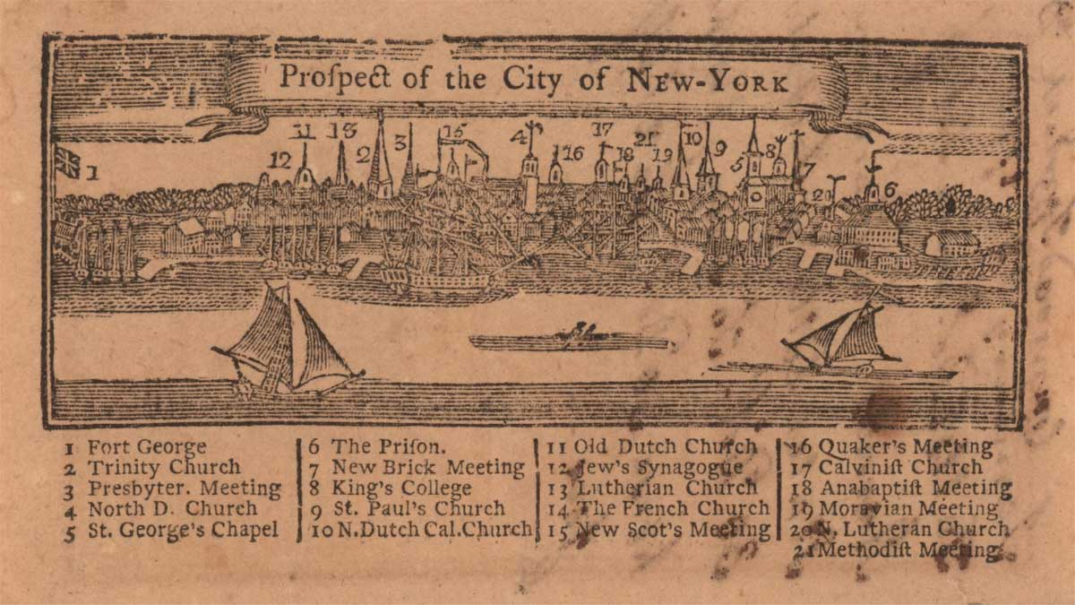 Prospect of the City of New York. Image via the JCB Library.