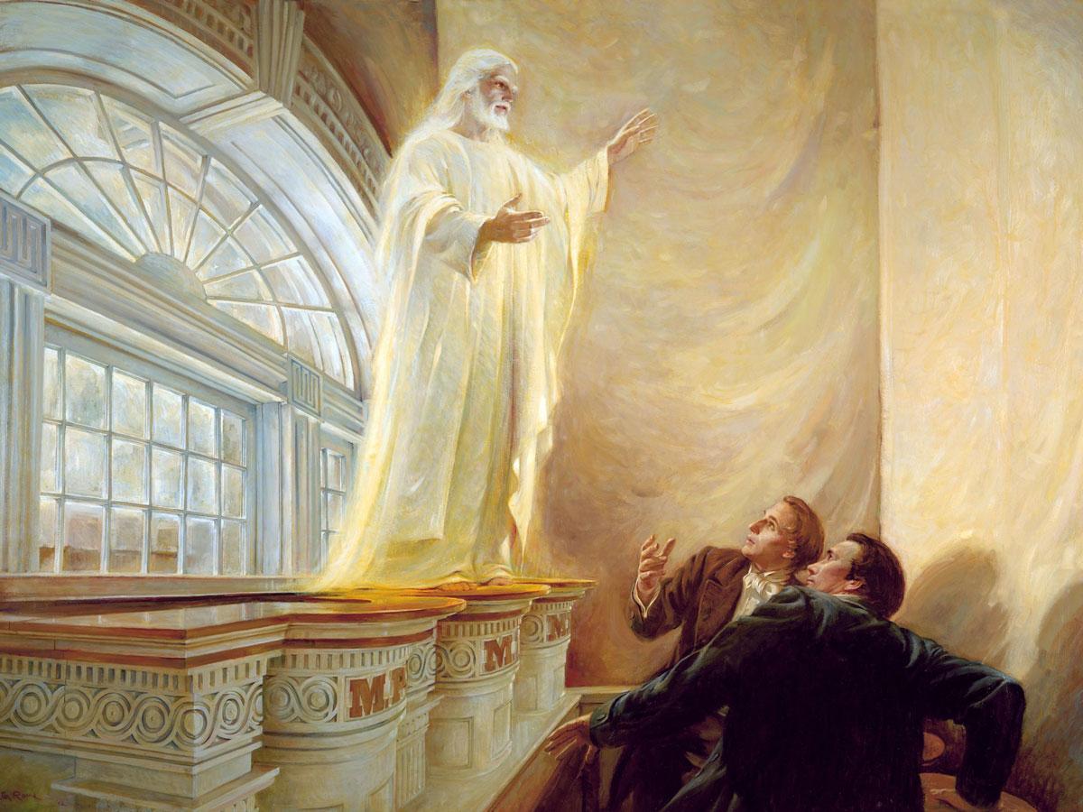 Christ Appears in Kirtland Temple by Walter Rane. Image via Gospel Media Library.