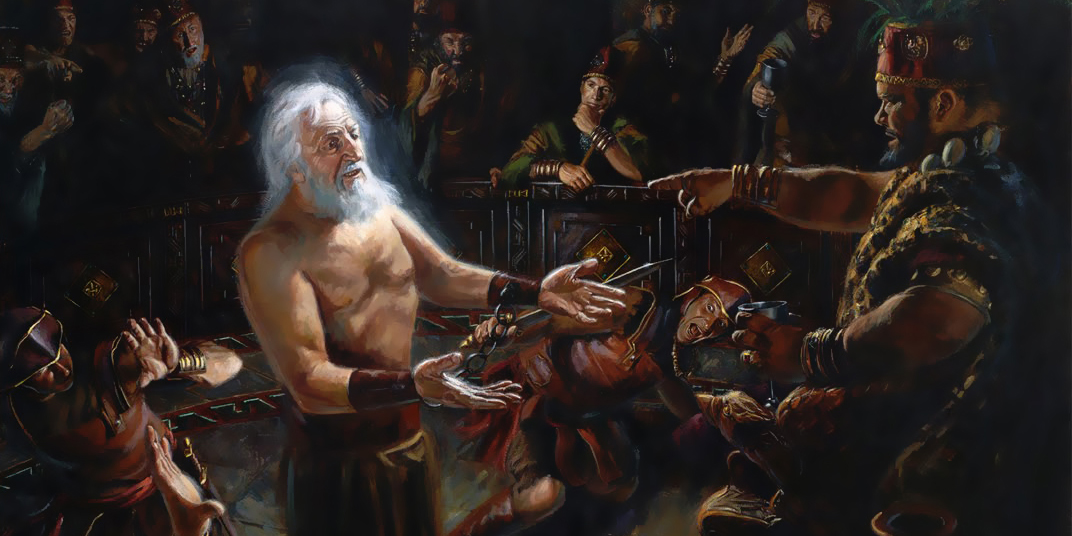 Abinadi Testifying before King Noah by Jeremy Winborg