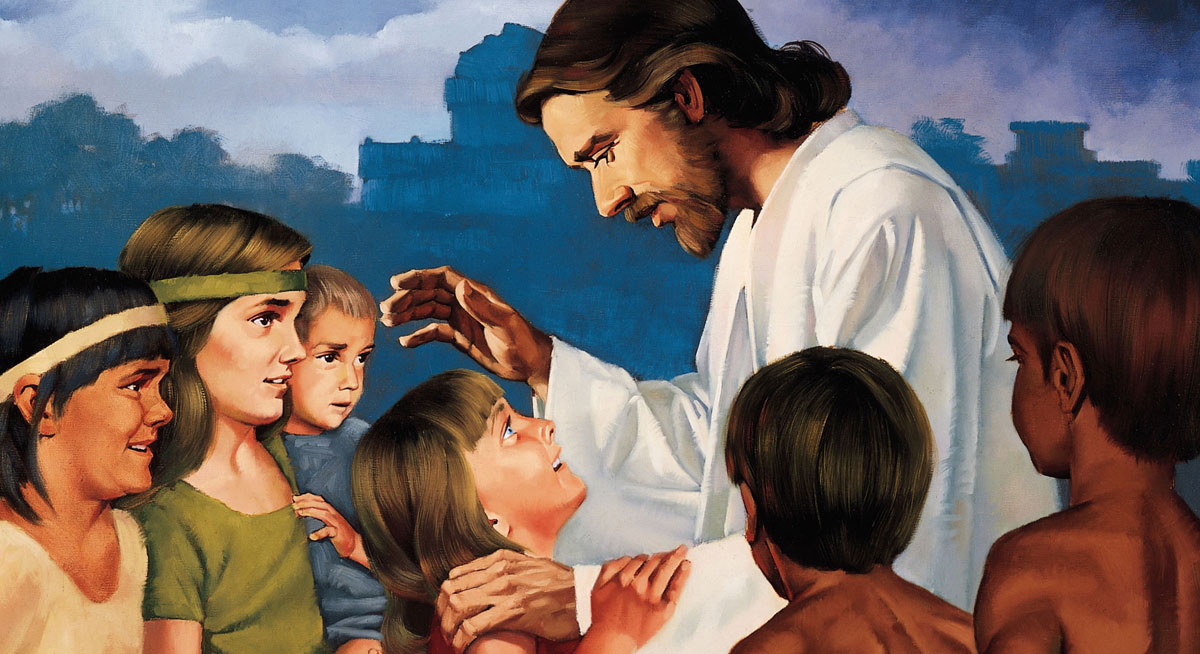 Christ Blessing the Nephite Children by Ted Henninger