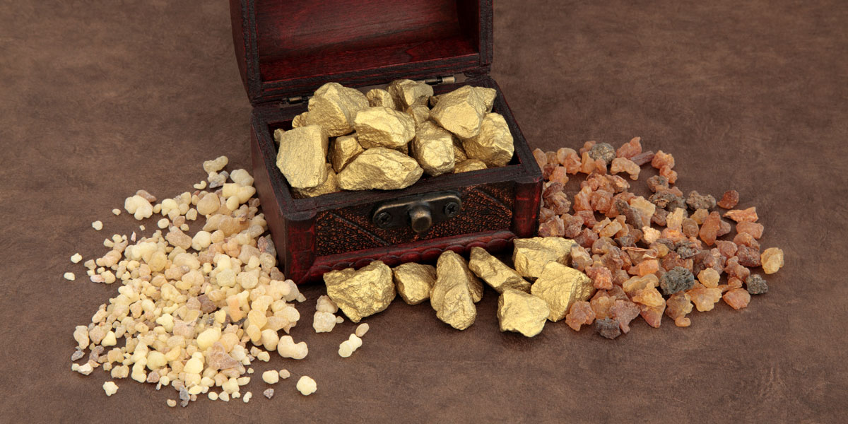 Gold Frankincense and Myrrh by Marilyn Barbone via Adobe Stock