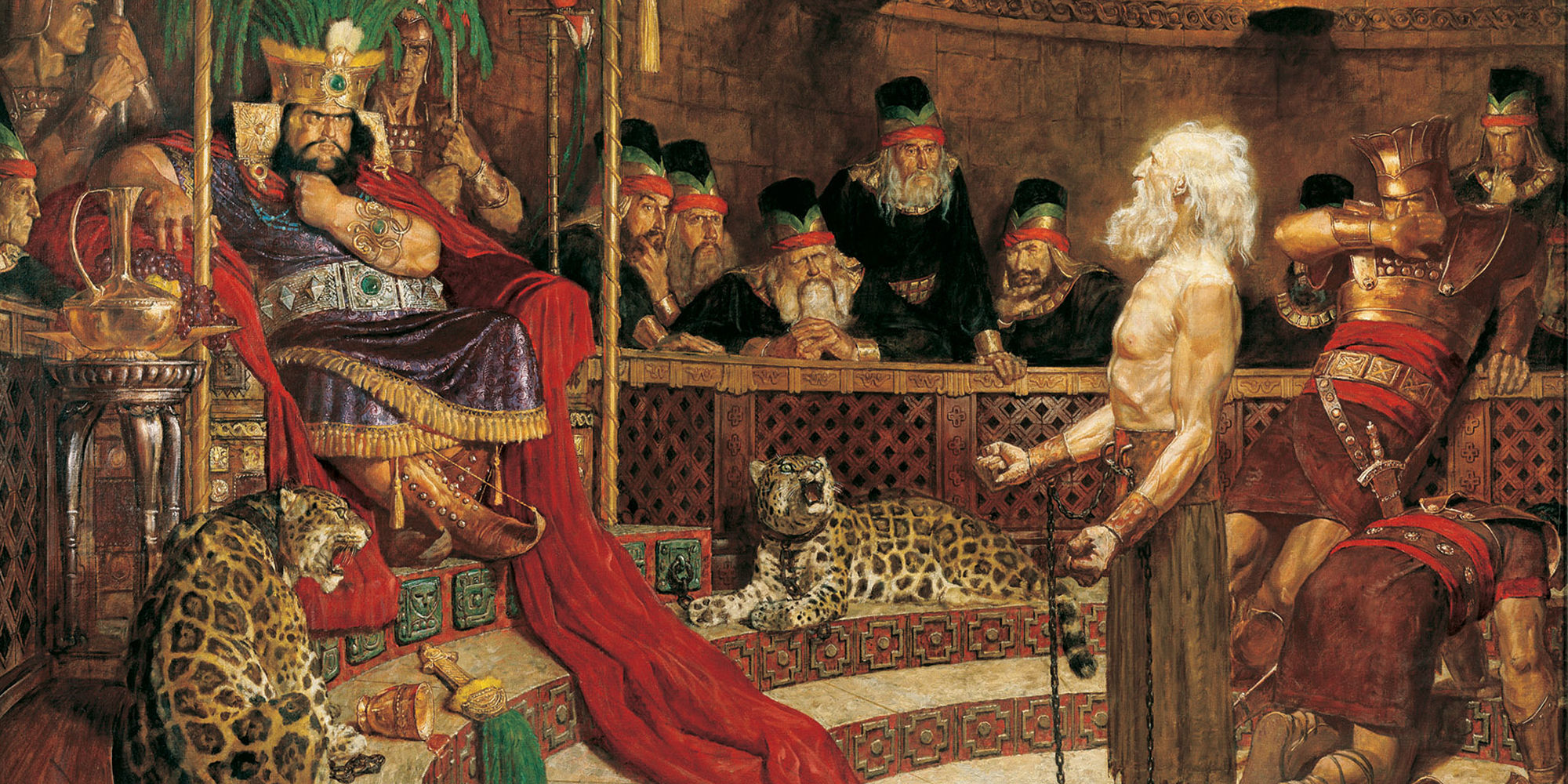 Abinadi Before King Noah, Arnold Friberg. Image via lds.org.