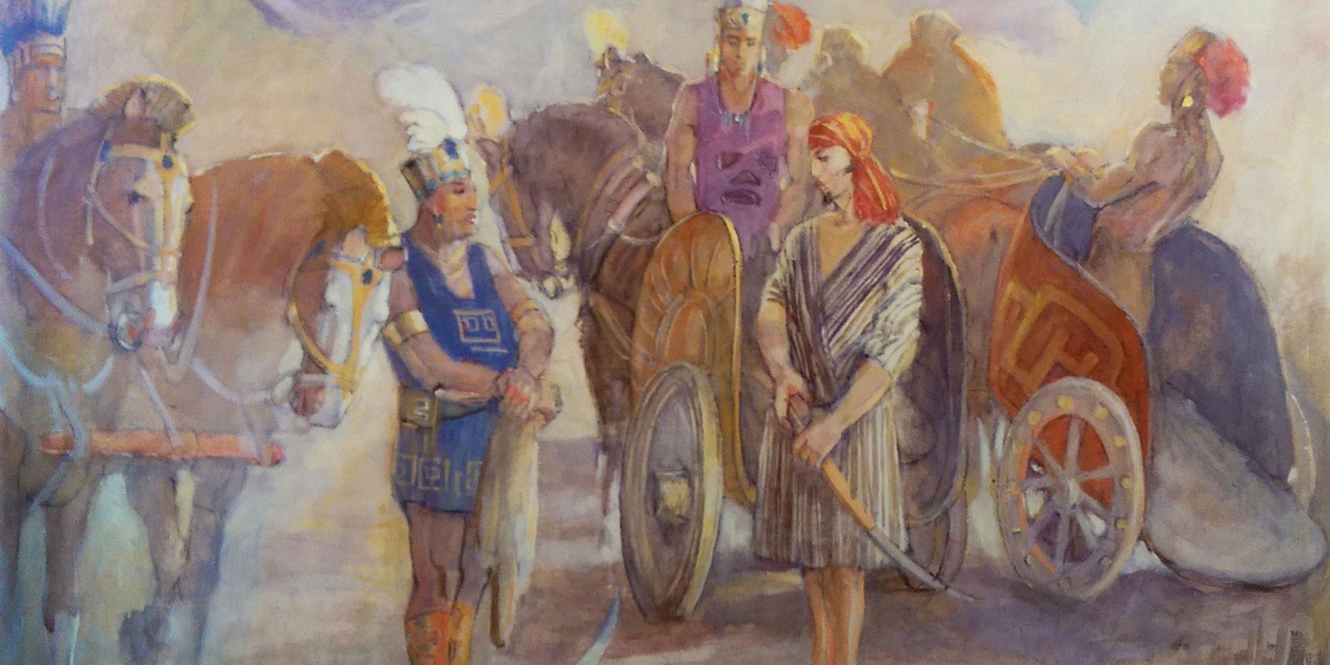 King Lamonis Father By Minerva Teichert