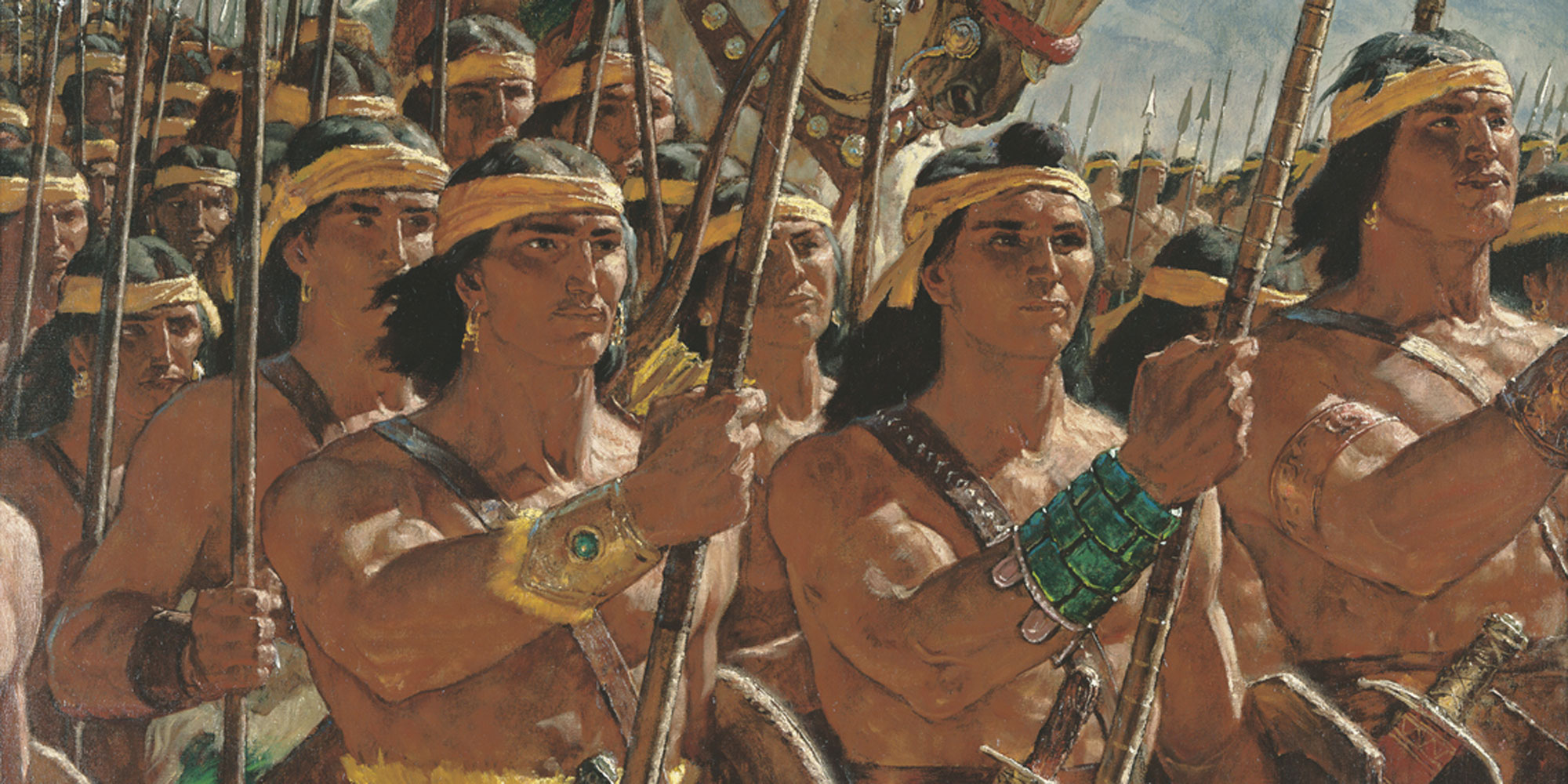 Two Thousand Young Warrios by Arnold Friberg