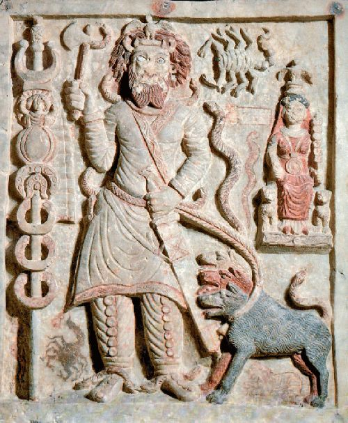 Ancient Parthian relief carving of the god Nergal from Hatra