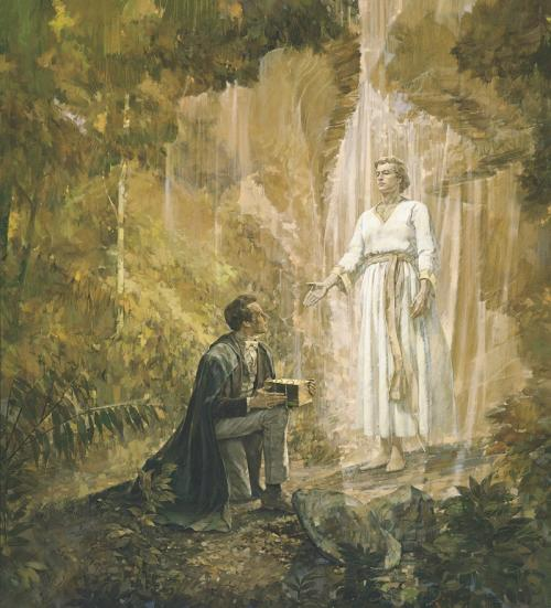 """Joseph Smith Receives the Gold Plates"" by Kenneth Riley"