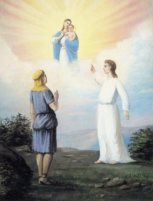 """Nephi's Vision of the Virgin Mary"" by CCA Christensen"