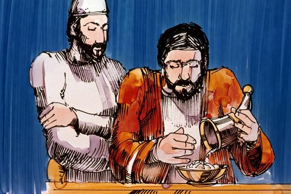 Image of grain offering from the Law of Moses. Image from redeemerofisrael.org