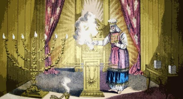 The Holy of Holies, illustration from the 1890 Holman Bible