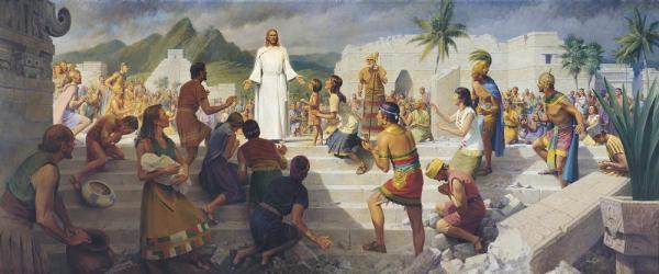 """Christ Visits the Americas"" by John Scott"