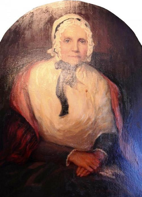 Portrait of Lucy Mack Smith via Wikimedia Commons
