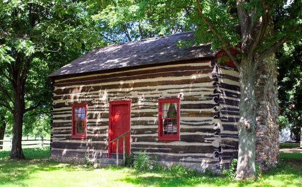 A view of the Peter Whitmer cabin in Fayette, New York. Image via LDS Media Library